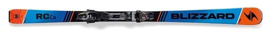 Obrázek z set sjezdové lyže BLIZZARD RC Ca, black/blue/orange vázání BLIZZARDTP10 DEMO, blk./ant./ora.