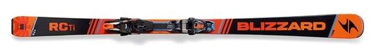 Obrázek z set sjezdové lyže BLIZZARD RC Ti Suspension, 16/17 + vázání TCX 12 DEMO, bla./ora./blue, 16/17