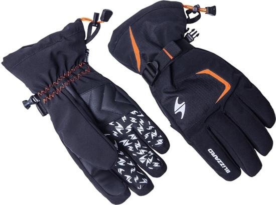 Obrázek z lyžařské rukavice BLIZZARD Reflex ski gloves, black/orange