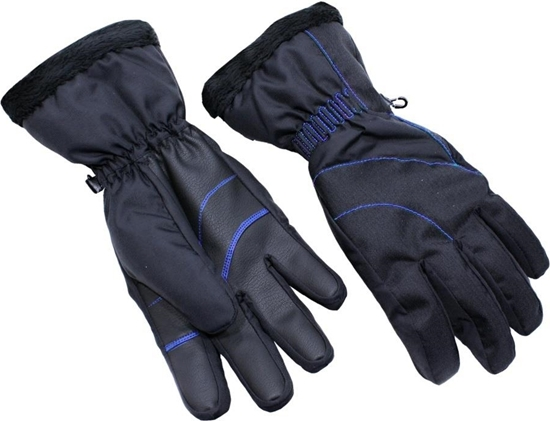 Obrázek z lyžařské rukavice BLIZZARD Viva Harmonica ski gloves, black/blue