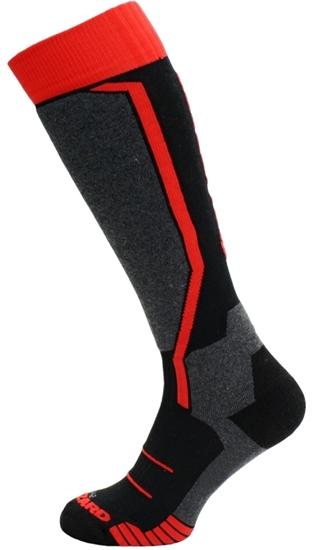 Obrázek z lyžařské ponožky BLIZZARD Allround ski socks, black/anthracite/red, AKCE
