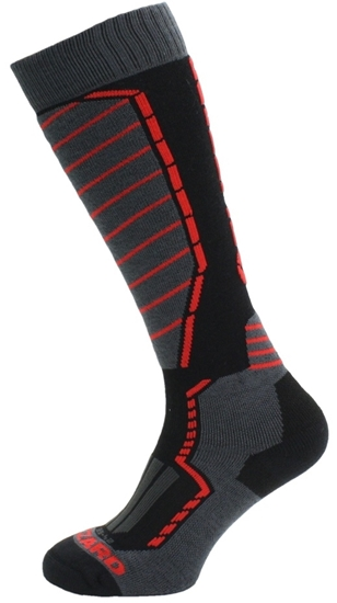 Obrázek z lyžařské ponožky BLIZZARD Profi ski socks, black/anthracite/red