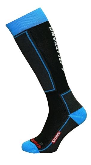 Obrázek z ponožky BLIZZARD Skiing ski socks junior, black/blue