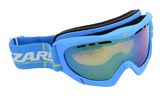 Obrázek z lyžařské brýle BLIZZARD Ski Gog. 912 MDAVZF, neon blue matt, amber2-3, green mir., photo, AKCE