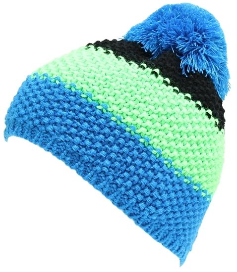 Obrázek z čepice BLIZZARD Tricolor, black/green/blue