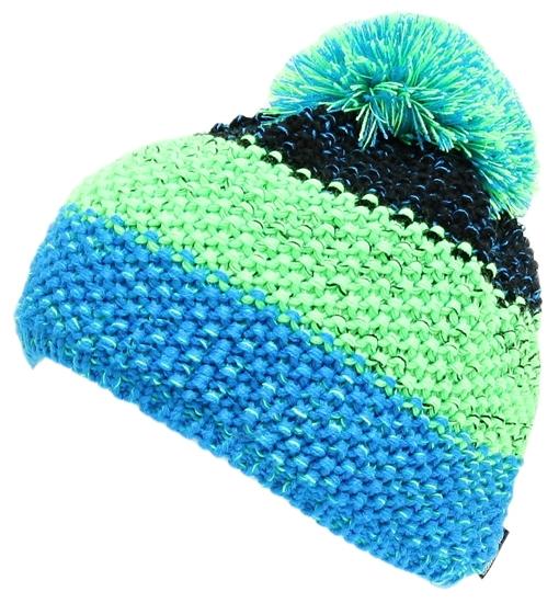 Obrázek z čepice BLIZZARD Tricolor,black/green/blue-melange