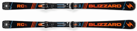 Obrázek z set sjezdové lyže BLIZZARD RC Ti Suspension TCX 12 DEMO, black/orange/blue