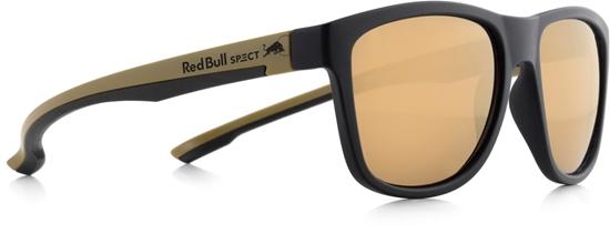 Obrázek z sluneční brýle RED BULL SPECT RB SPECT Sun glasses, BUBBLE-005, matt black/brown with golden mirror, 55-17-145, AKCE