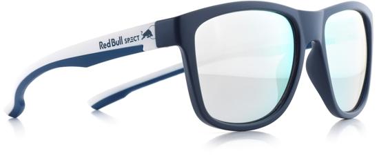Obrázek z sluneční brýle RED BULL SPECT RB SPECT Sun glasses, BUBBLE-007, matt dark blue/smoke with silver mirror, 55-17-145