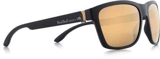 Obrázek z sluneční brýle RED BULL SPECT RB SPECT Sun glasses, WING2-005, matt black/brown with golden mirror, 57-17-145, AKCE