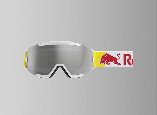 Obrázek z lyžařské brýle RED BULL SPECT RB SPECT Goggles, SHELTER-003, matt white/silver snow-smoke with silver Flash, AKCE