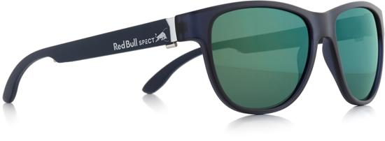 Obrázek z sluneční brýle RED BULL SPECT WING3-002P, matt dark blue/smoke with green mirror POL