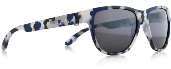 Obrázek z sluneční brýle RED BULL SPECT RB SPECT Sun glasses, WING3-005P, black-blue/smoke with silver mirror POL, 53-16-140