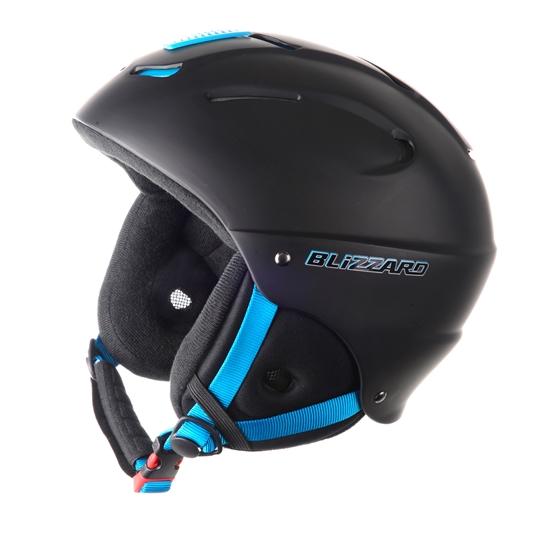 Obrázek z helma BLIZZARD Mega ski helmet, black matt/neon blue, AKCE