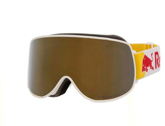 Obrázek z lyžařské brýle RED BULL SPECT Goggles, MAGNETRON EON-002, matt white frame/white headband, lens: gold snow CAT3