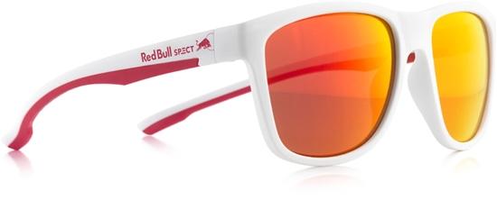 Obrázek z sluneční brýle RED BULL SPECT BUBBLE-004P, matt white/smoke with red REVO POL