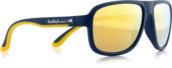 Obrázek z sluneční brýle RED BULL SPECT RB SPECT Sun glasses, LOOP-004P, matt dark blue/brown with golden REVO POL, 59-15-145