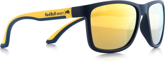 Obrázek z sluneční brýle RED BULL SPECT RB SPECT Sun glasses, TWIST-005P, matt dark blue/matt yellow temple/brown with golden REVO POL, 56-17-140