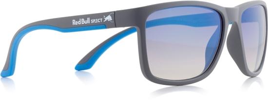 Obrázek z sluneční brýle RED BULL SPECT RB SPECT Sun glasses, TWIST-010P, matt grey/smoke with blue REVO POL, 56-17-140