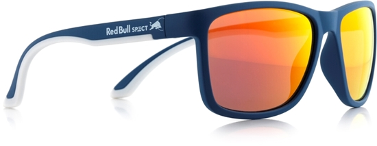 Obrázek z sluneční brýle RED BULL SPECT RB SPECT Sun glasses, TWIST-011P, matt dark blue/smoke with orange REVO POL, 56-17-140
