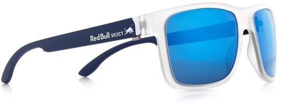 Obrázek z sluneční brýle RED BULL SPECT RB SPECT Sun glasses, WING1-002P, matt transparent white/smoke with blue mirror POL, 56-17-145