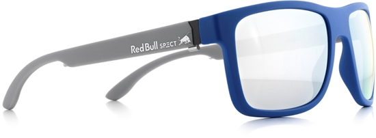 Obrázek z sluneční brýle RED BULL SPECT RB SPECT Sun glasses, WING1-003P, matt light blue/smoke with silver mirror POL, 56-17-145