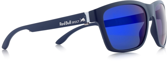 Obrázek z sluneční brýle RED BULL SPECT WING2-002P, matt dark blue/velvet mirror POL