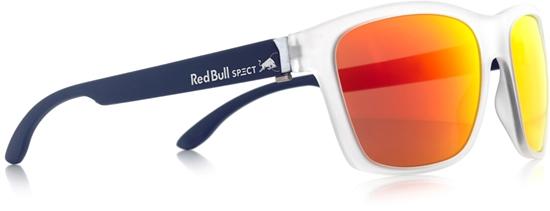 Obrázek z sluneční brýle RED BULL SPECT RB SPECT Sun glasses, WING2-004P, matt transparent white/smoke with red REVO POL, 57-17-145