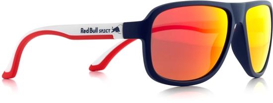 Obrázek z sluneční brýle RED BULL SPECT RB SPECT Sun glasses, LOOP-013P, matt dark blue/matt white temple/smoke with red REVO POL, 59-15-145