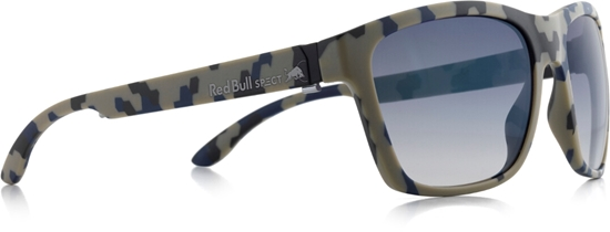 Obrázek z sluneční brýle RED BULL SPECT WING2-006P, matt camouflage/smoke with blue REVO POL
