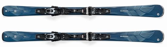 Obrázek z set sjezdové lyže BLIZZARD Alight 7.7 TP10 DEMO W, black/silver/blue