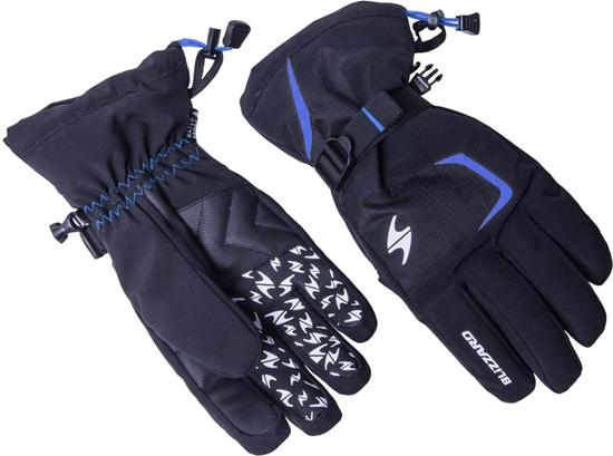 Obrázek z lyžařské rukavice BLIZZARD Reflex ski gloves, black/blue