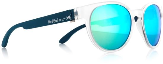 Obrázek z sluneční brýle RED BULL SPECT RB SPECT Sun glasses, WING4-004, matt transparent white/green with blue mirror, 52-20-140, AKCE