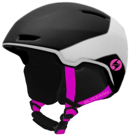 Obrázek z helma BLIZZARD Viva Viper ski helmet, black matt/white matt/magenta matt