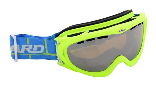 Obrázek z lyžařské brýle BLIZZARD Ski Gog. 905 MDAVZFO, neon green matt, amber2-3, silv.mir., photo, AKCE