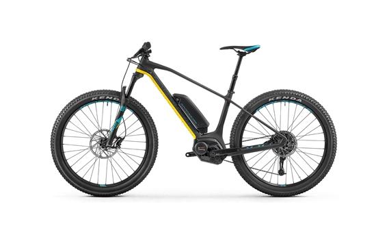 Obrázek z horské kolo MONDRAKER E-PRIME CARBON R+ 27,5, carbon/yellow/light blue, 2018