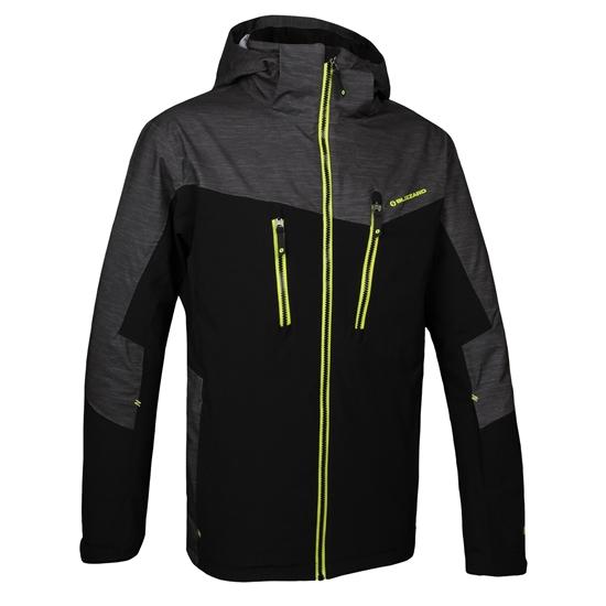 Obrázek z lyžařská bunda BLIZZARD Mens Jacket Sölden, black/graphite melange/yellow