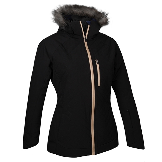Obrázek z lyžařská bunda BLIZZARD Viva Jacket Kitzbühl, black/gold + fur