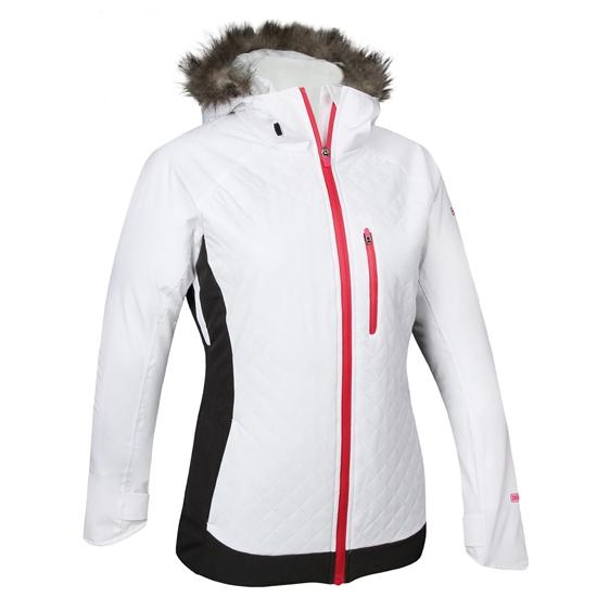 Obrázek z lyžařská bunda BLIZZARD Viva Jacket Kitzbühl, white/graphite melange/copper + fur