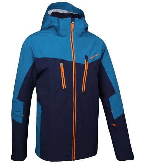 Obrázek z lyžařské bundy BLIZZARD Mens Jacket Sölden, navy blue/blue/orange
