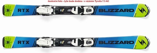 Obrázek z set sjezdové lyže BLIZZARD RTX JR L, blue/green, rental + Tyrolia 7.5 AC