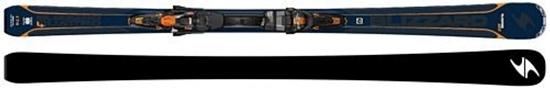 Obrázek z set sjezdové lyžování BLIZZARD Quattro 7.4 Ti, blue/orange, 17/18 + vázání TCX 12 DEMO, bla./ora./bl., 17/18