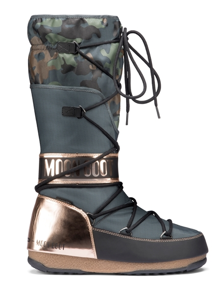 Obrázek z boty MOON BOOT WE ANVERSA CAMU, 001 military/bronze