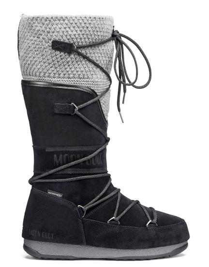 Obrázek z boty MOON BOOT WE ANVERSA WOOL, 002 black/grey