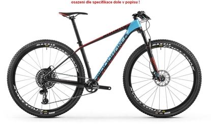 Obrázek horské kolo MONDRAKER CHRONO CARBON R NX 29, carbon/light blue/flame red
