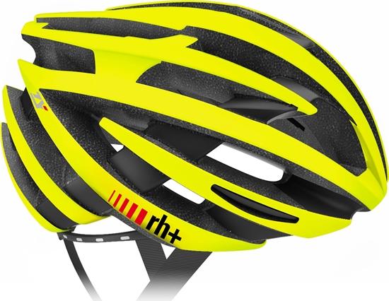 Obrázek z helma RH+ ZY, shiny yellow fluo/bridge matt black, AKCE