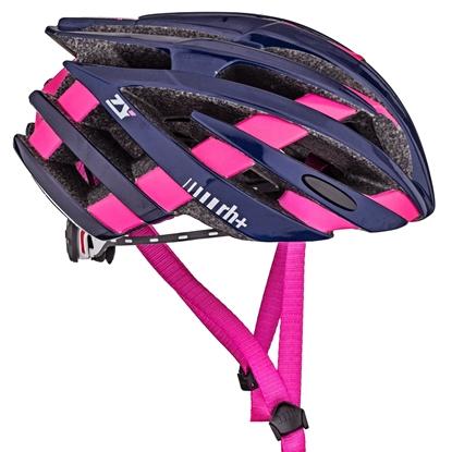 Obrázek helma RH+ ZY, shiny blue/bridge matt fuchsia