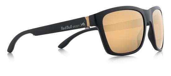 Obrázek z sluneční brýle RED BULL SPECT RB SPECT Sun glasses, WING2-005P, matt black/ brown with gold mirror POL, 57-17-145