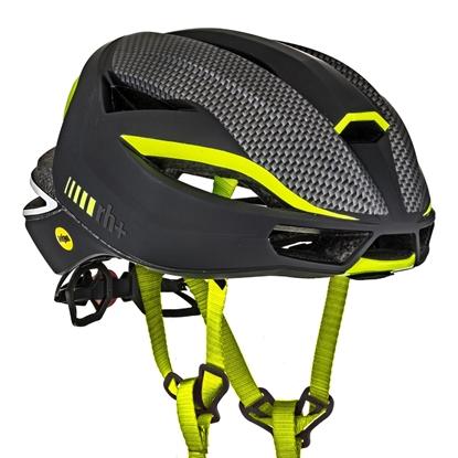 Obrázek helma RH+ Lambo MIPS, matt black/matt carbon/yellow fluo