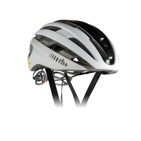 Obrázek z helma RH+ Z Epsilon MIPS, shiny black/matt white/matt carbon